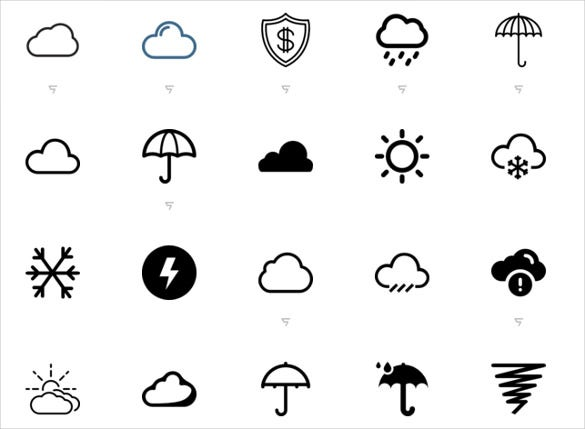 weather icons set free download