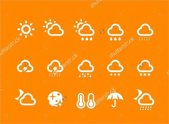 weather icon set illustration downlad