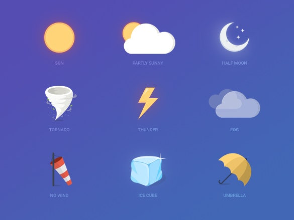 creative weather icons download