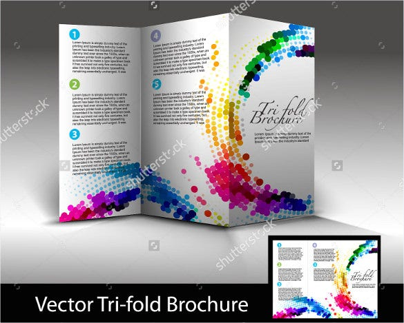 tri fold brochure design vector illustration