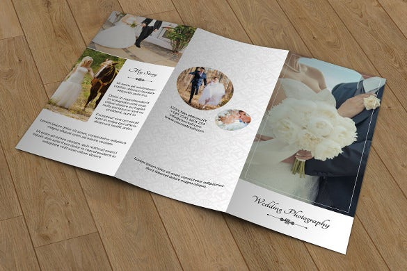wedding photography brochure template