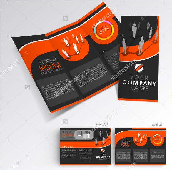 professional business tri fold template