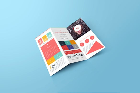 colorful tri fold brochure