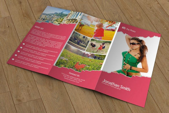 trifold photography marketing brochure instant download