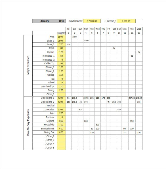 excel personal expense tracker template download