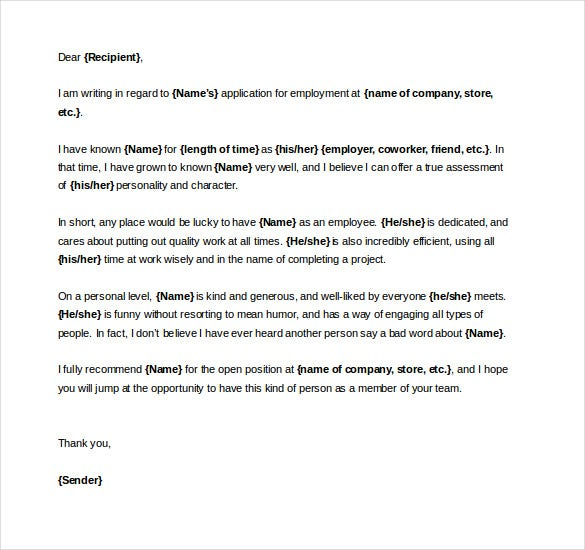 Reference letter for employment australia spiritdancerdesigns Images
