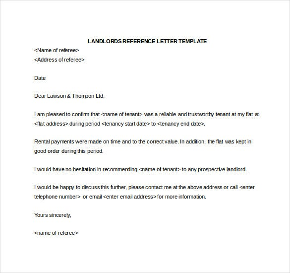 reference letter from landlord template - search results for template for character reference for