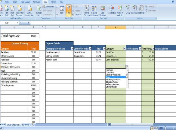 Expense Tracking Templates  Free Sample Example Format