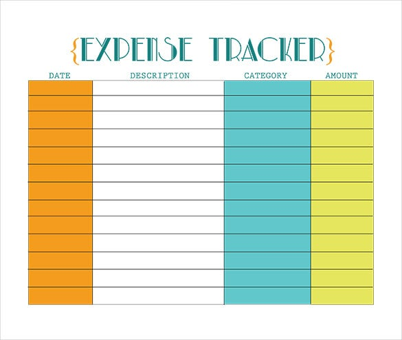 retro glam expense tracker template download