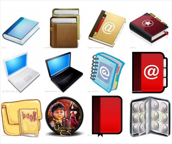 free book icons download