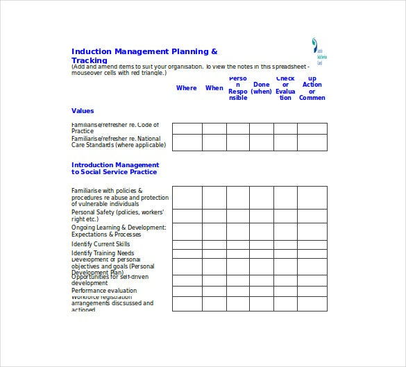 induction management planning and tracking tool1