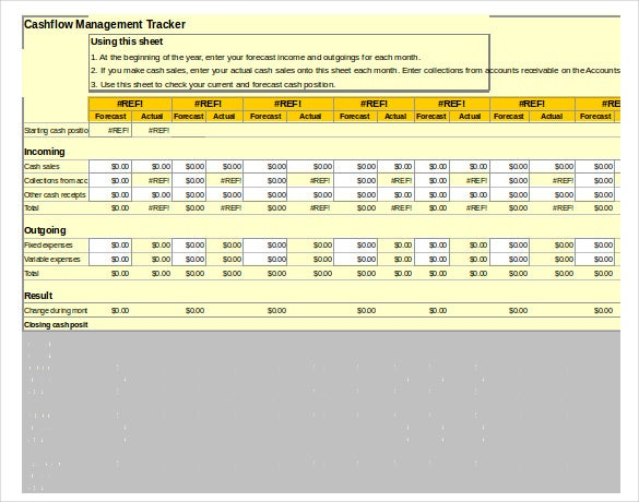 cash flow management tracker