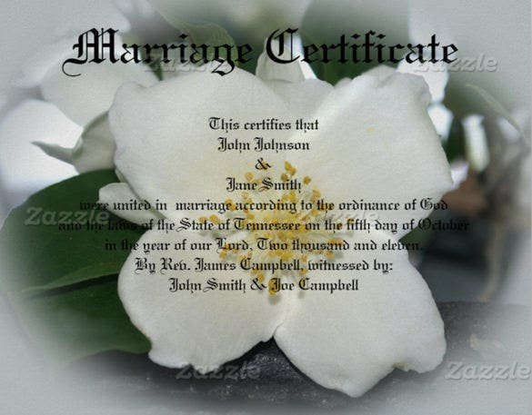 beautiful wedding certificate template for download