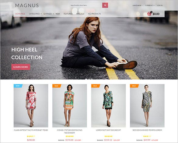 featured fashion store zencart theme 48