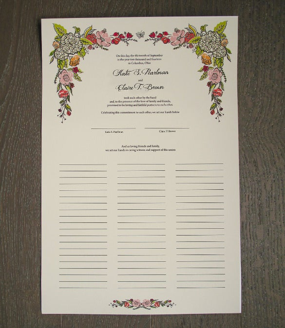 print ready wedding certifiacte template for download