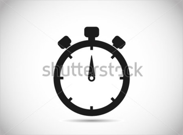stopwatch clock icon