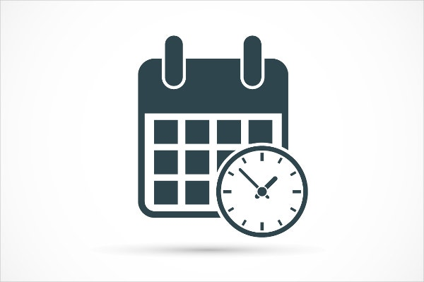 calendar with clock icon