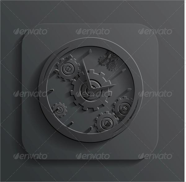 Concept Clock Icon