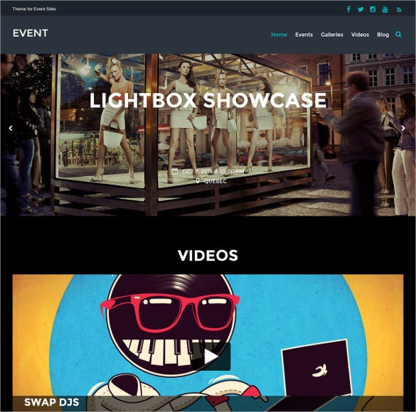 elegant event wordpress theme