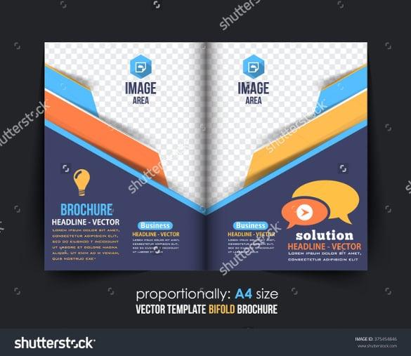 colroful bi fold business brochure design