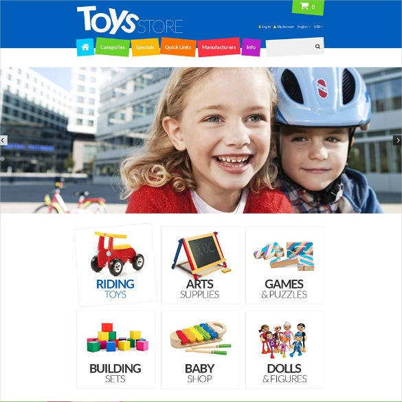 toys store responsive zencart template