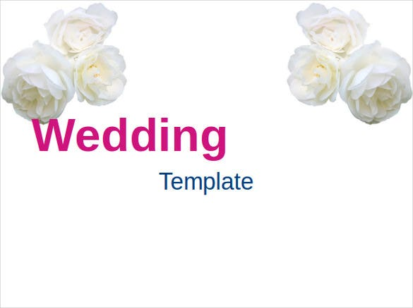 simple powerpoint template for wedding