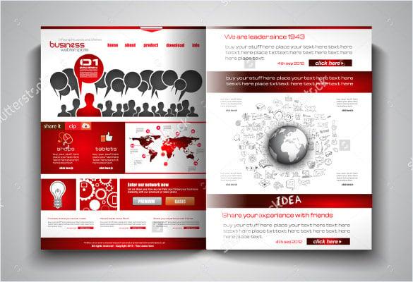 Bi Fold Brochure Templates Free PSD AI Vector EPS Format - Brochure template design