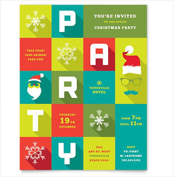 work christmas party flyer template