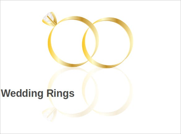 wedding rings powerpoint template download