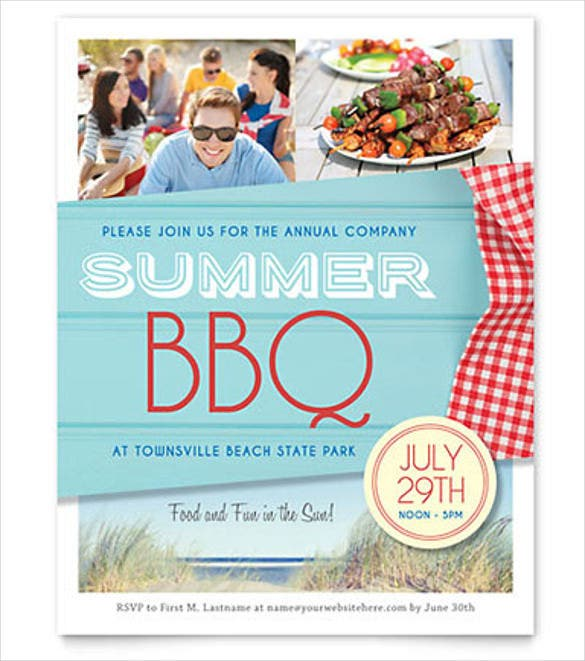summer bbq party flyer template