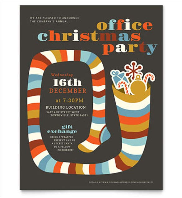 23 word party flyer templates free download free for Christmas brochure template