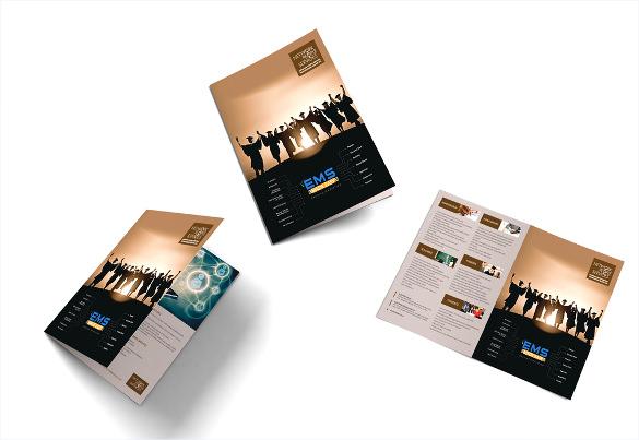 ems bi fold brochure template