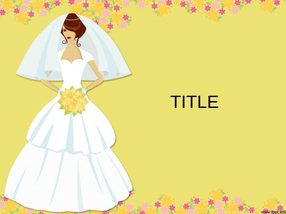 bridal theme wedding powerpoint template download