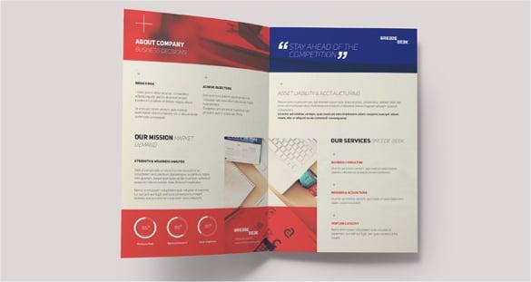 breede bi fold brochure template