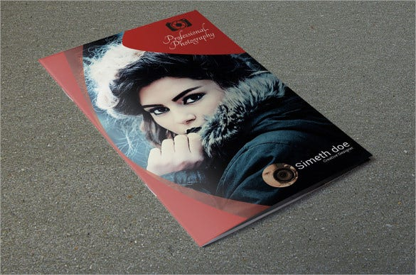 bifold photography brochure design download