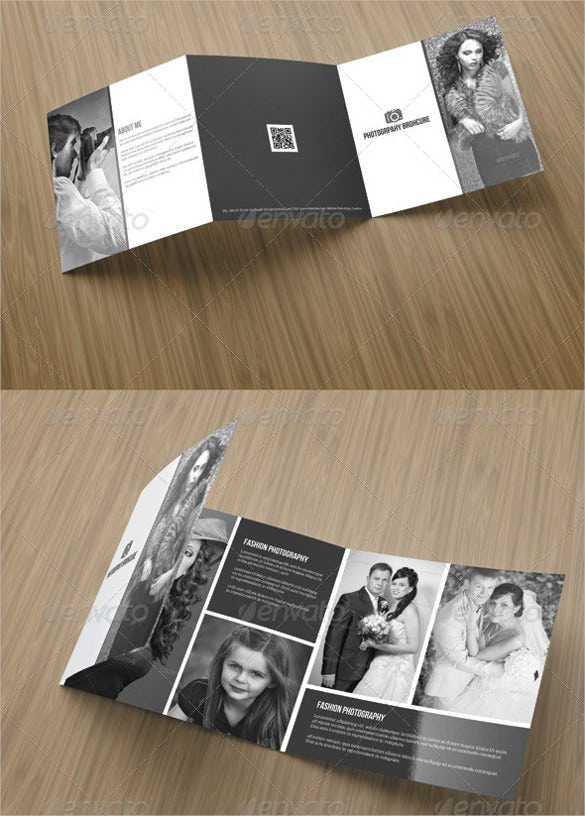 square tri fold photography brochure download