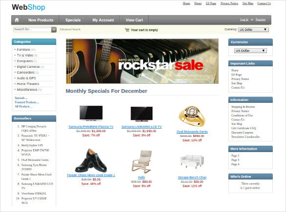 music store zencart template free download