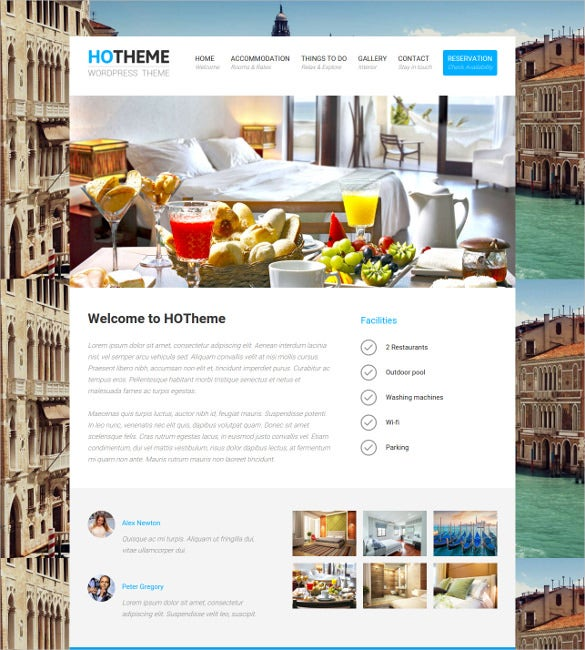 beautiful hotel wordpress theme