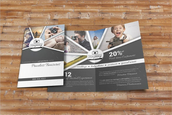 photography business brochure template download