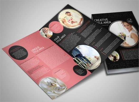 beautiful wedding photography bi fold brochure template