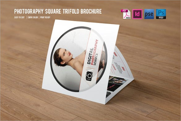trifold photography brochure indesign template