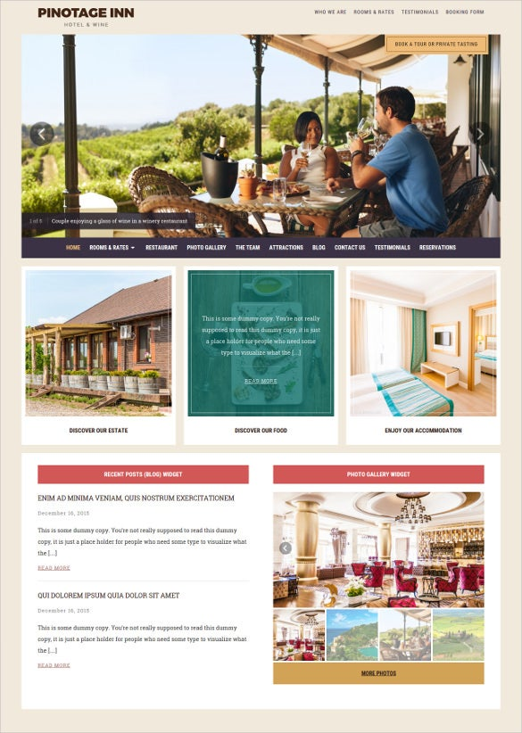 best restaurent hotel wordpress theme