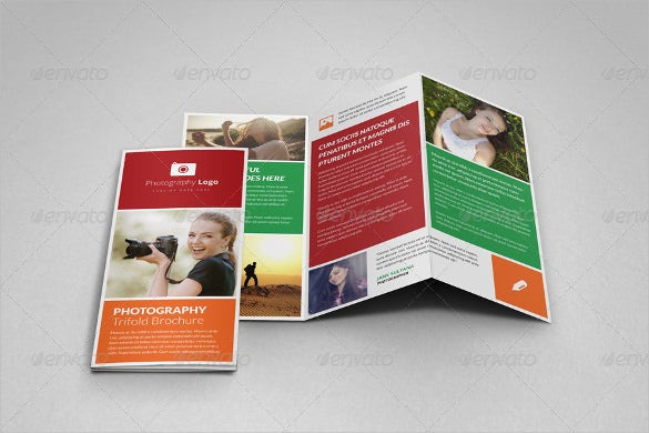 photography portfolio trifold brochure template