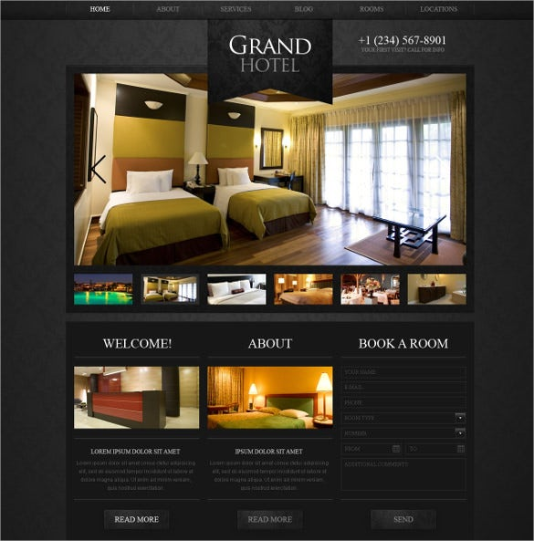 luxury hotels wordpress theme