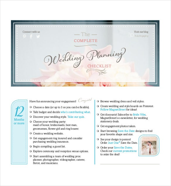 Wedding Checklist Templates  Free Sample Example Format
