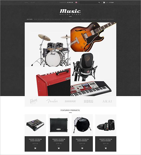 online music store zencart template 139