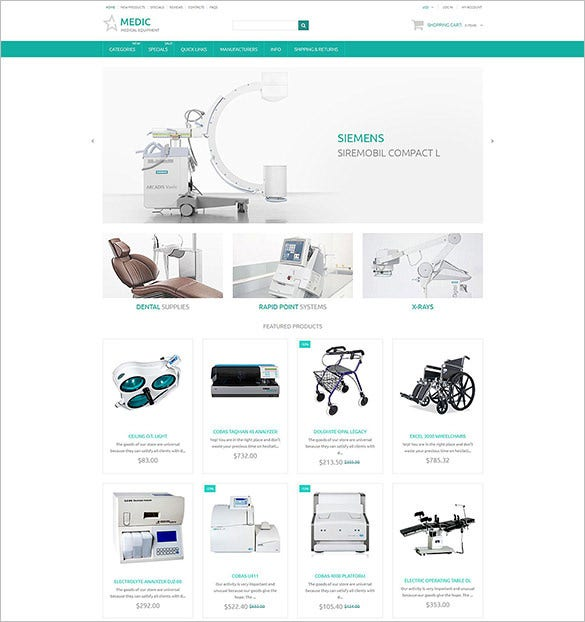 medical zencart template download