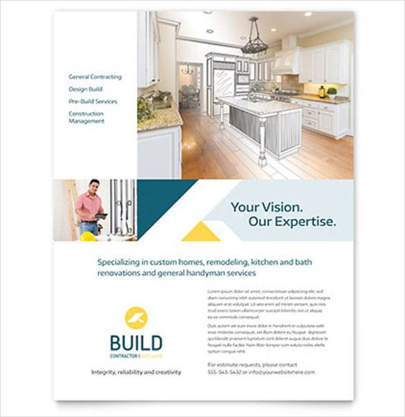 contractor business flyer template