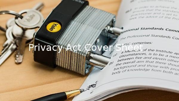 privacyactcoversheet