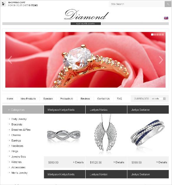 online jewelry store zencart template 139